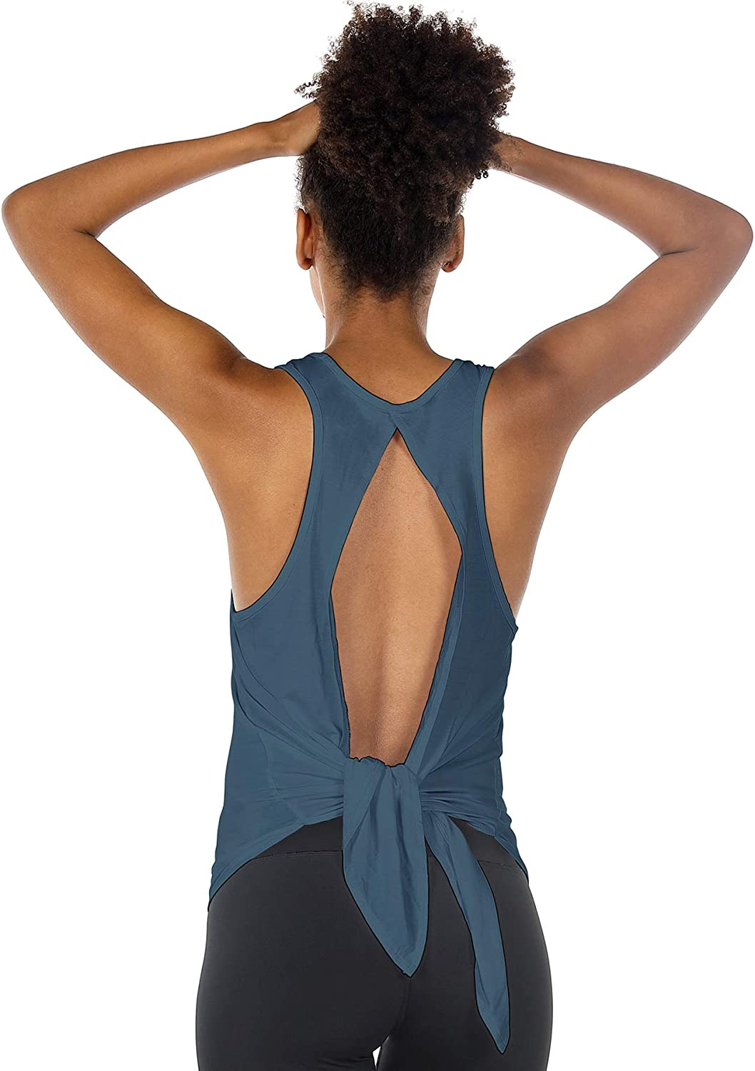 icyzone Limited time sale Open Back Workout Tops Financial sales sale for Women Athletic S - Activewear