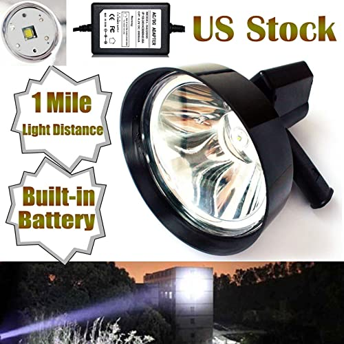2021 T6 LED Hunting Light Handheld Spotlight 100W 1 Mile outlet sale Lighting Distance Outdoor Fishing Shooting Camping Lamp Built in 2021 Battery - 2 Year Warranty online sale