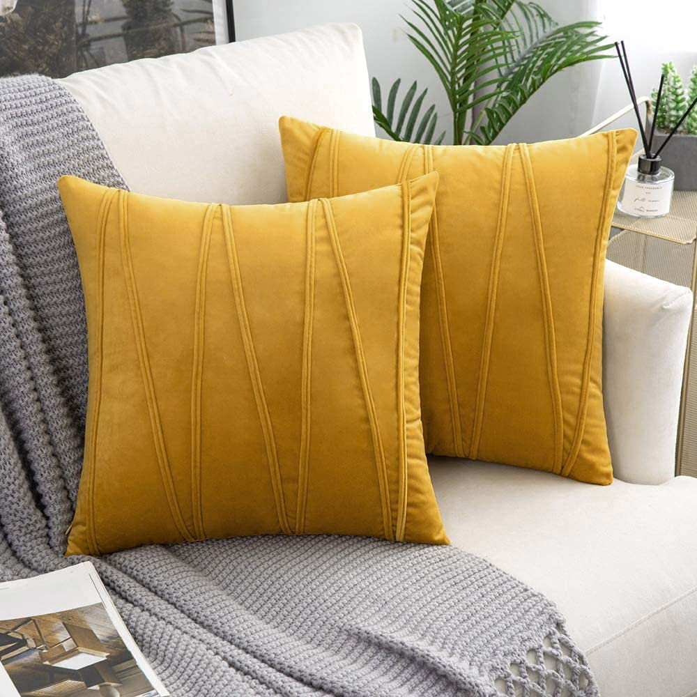 Woaboy Fall 2021 spring and summer new Decorative Las Vegas Mall Striped Velvet Pillow Throw Covers S Soft