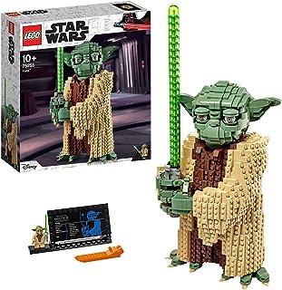 LEGO 75255 Star Wars Yoda Bouwset, Verzamelmodel met Displaystandaard, The Attack of the Clones Collectie