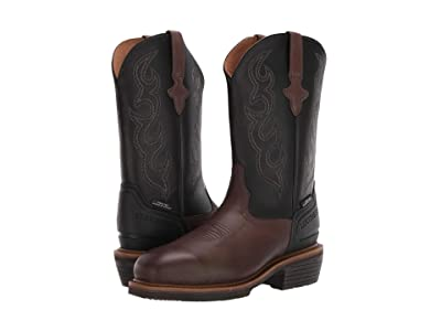 Lucchese 12 Welted Western Work Boot Steel Toe (Mocha/Black) Men
