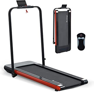 LINKLIFE Willy 2 in 1 Folding Treadmill, 2.25 HP Smart Walking Running Machine with Bluetooth Audio Speakers, Installation-Free,Under Desk Treadmill for Home/Office Gym Cardio Fitness