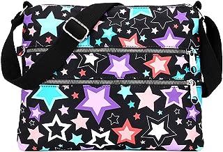 Nawoshow Light Weight Slim Shoulder Bag for Women Messenger Handbags Cross Body Multi-Pockets Zipper Bag