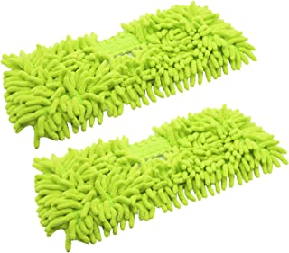 EZ SPARES 2Pcs Replacement Mop for Brush Head,Washable Sweeper Microfiber Chenille Dust Fringe Brush Mop,Swob,Strong Water Absorption.Cotton