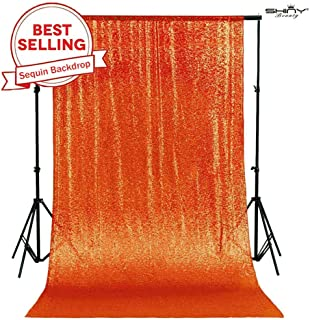 PHOTOBOOTH Backdrop Best Choice 4FTx7FT Orange Sequin backdrops, Wedding backdrops, Party Decoration, Sequin Curtains, Sequin Photo Booth Backdrop