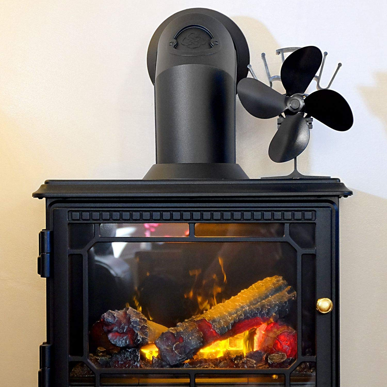 CUHAWUDBA Ventilador Negro Peque?O Estufa Ventilador de Estufa de ...