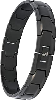 Smarter LifeStyle Elegant Surgical Grade Steel Men's Wide Link Stylish Bracelet, 4 Colors to Choose from