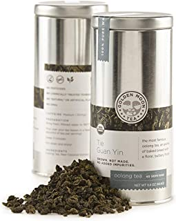 Sponsored Ad - Golden Moon - Organic Oolong Loose Leaf Tea | Naturally Creamy Texture & Deliciously Smooth Taste | Tie Gua...