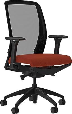 "Lorell USA Seating Adorn Chair, 47"" x 26.5"" x 25"", Orange"