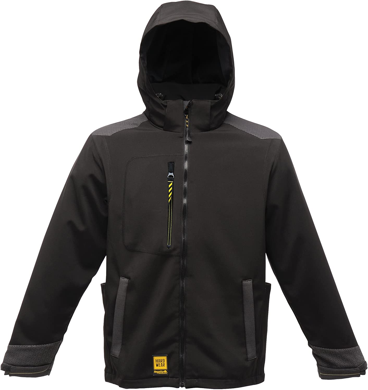 cf05166b117a Regatta Mens Hardwear Enforcer Softshell Jacket (Wind Resistant Resistant  Resistant & Water Repellent) 0abd5d