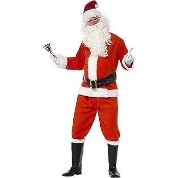 Smiffys-34585XL Disfraz de Santa, con Chaqueta, pantalón, cinturón ...