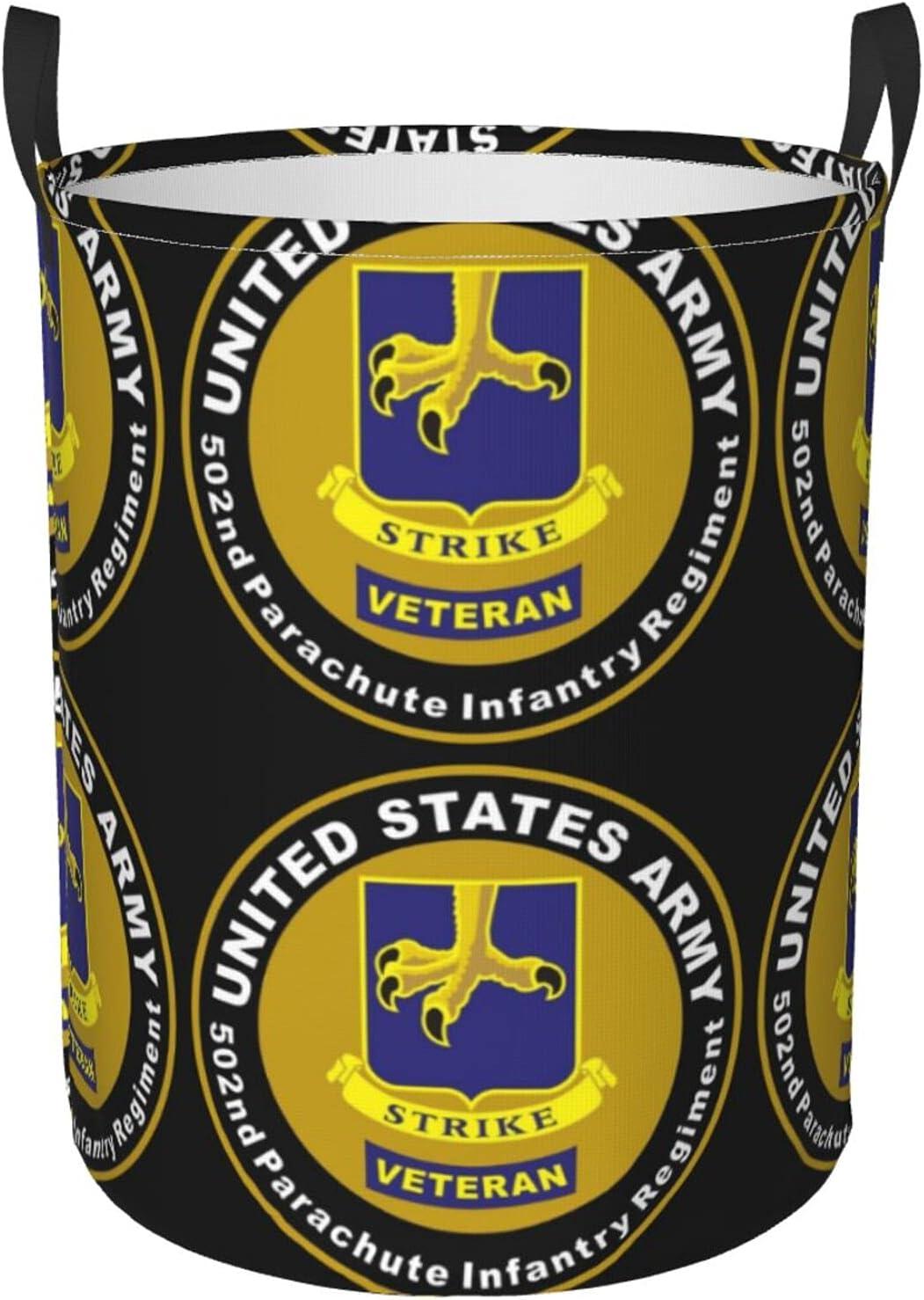 Us Tucson Mall Army Veteran 502nd Circular Trust B Clothes Waterproof Dirty Hamper