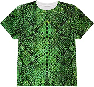 Halloween Green Snake Snakeskin Costume All Over Youth T Shirt