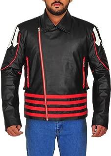Men's Freddie Mercury Red & Black Wembley Leather Jacket Costume