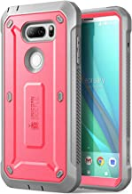 LG V30 Case, SUPCASE Full-Body Rugged Holster Case with Built-in Screen Protector for LG V30, LG V30s, LG V30 Plus,LG V35,LG V35 ThinQ 2017 Release, Unicorn Beetle PRO Series(Pink/Gray)