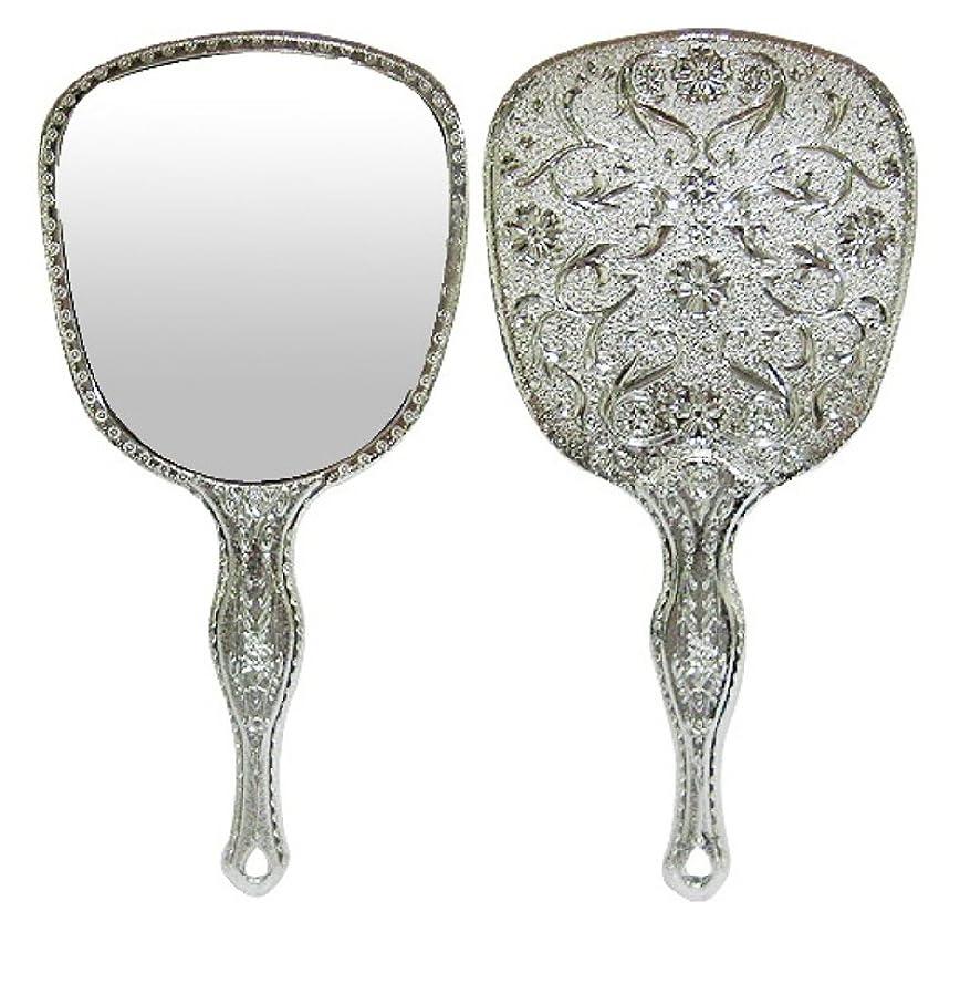 コントロール厳しいクモ送料無料 お気に入りアンティーク 鏡 キラキラお姫様ミラー メッキハンドミラー トゥインクル 装飾鏡 シルバー