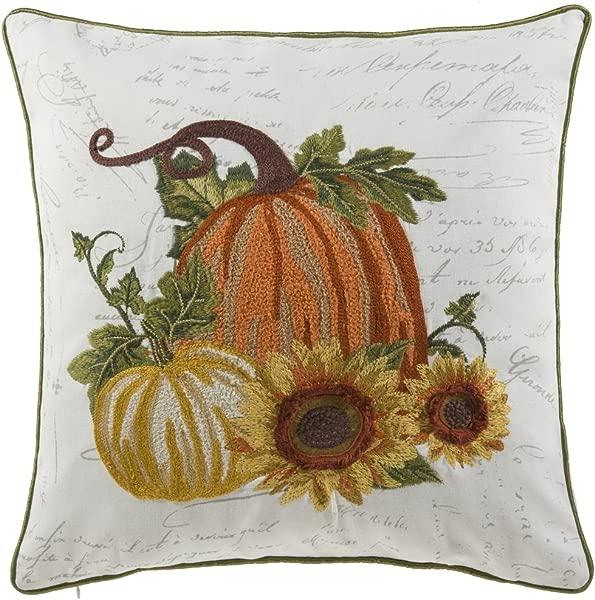 14 Karat Home Perfect Fall Pumpkin Throw Pillow With Feather Down Insert 18 L X 18 W