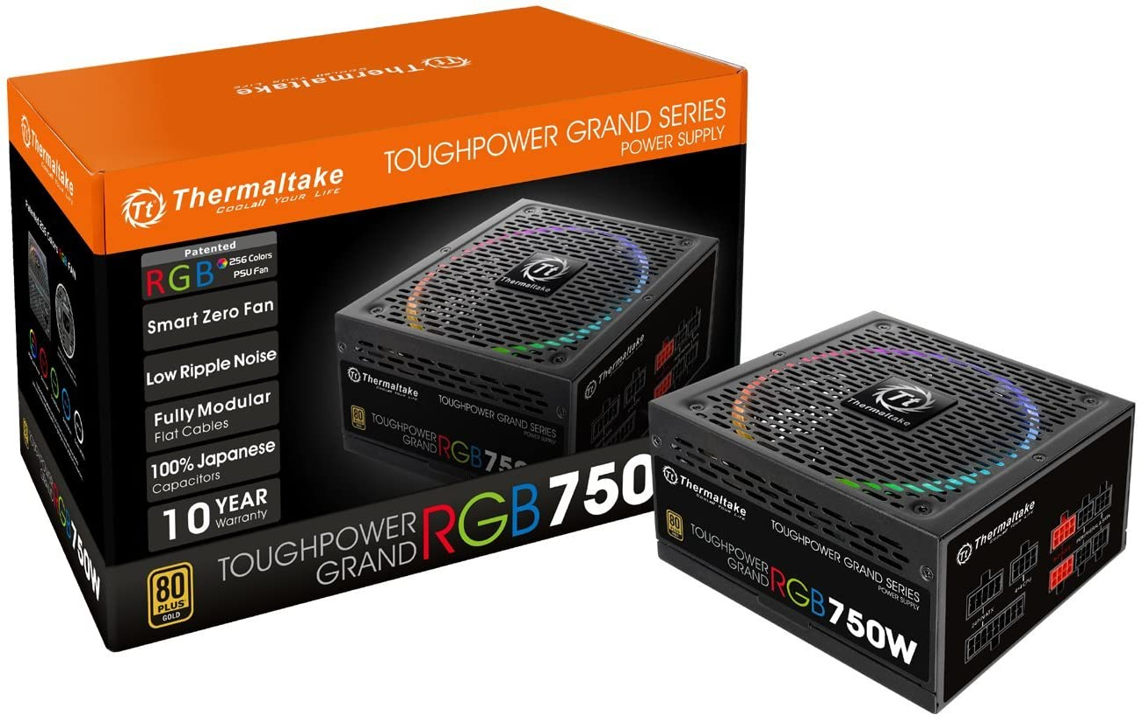 Thermaltake Great interest Toughpower Grand RGB 750W 256-Co 80+ Zero safety Smart Gold