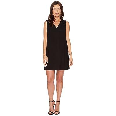 Lilla P Pleat Front Dress (Black) Women