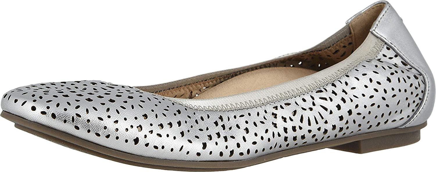 Vionic Women/'s Spark Robyn Perf Ballet Flat Ladies Dress Everyday Flats with Concealed Orthotic Arch Support