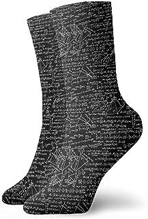 ONGH, Fórmulas matemáticas Ecuaciones Calcetines de equipo clásico Punto plano Casual Athletic Stoking 30CM Ligero Permeabilidad al aire