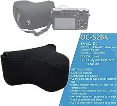 JJC Black Ultra Light Neoprene Camera Case for Sony a6500 a6400 a6300 a6000 a5100 w/18-55mm/ E 50mm F1.8 Lens, Case for Fuji X-T10 X-T20 X-T10 W/ 16-50mm Lens, Canon PowerShot SX520 HS SX530 is G3X