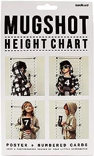 SUCK UK MUGSHOT HEIGHT CHART サックユーケー マグショット ハイトチャート 身長計 壁掛け 子供向け 撮影背景 イギリス雑貨