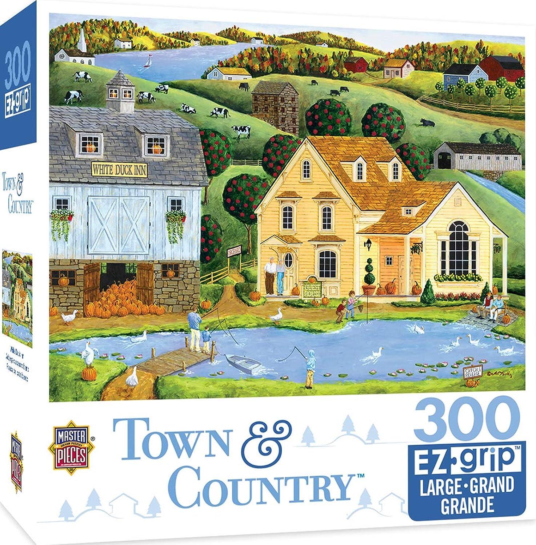 Masterpieces Town & Country die wei Ente Inn–Inn, mit Teich gro 300Stück EZ Grip Puzzle von Art Poulin