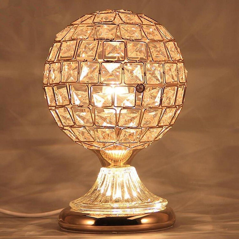 XIAOJIA Tischleuchte Europisches Schlafzimmer am Bett Tisch Lampe, moderne einfache Hochzeit Geschenk Creative warm Crystal Lights, 3 optional , A