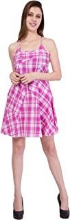 American-Elm Women's Pink Sleeveless Dress