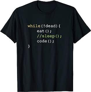 Funny Computer Science Programmer Eat Sleep Code T-Shirt