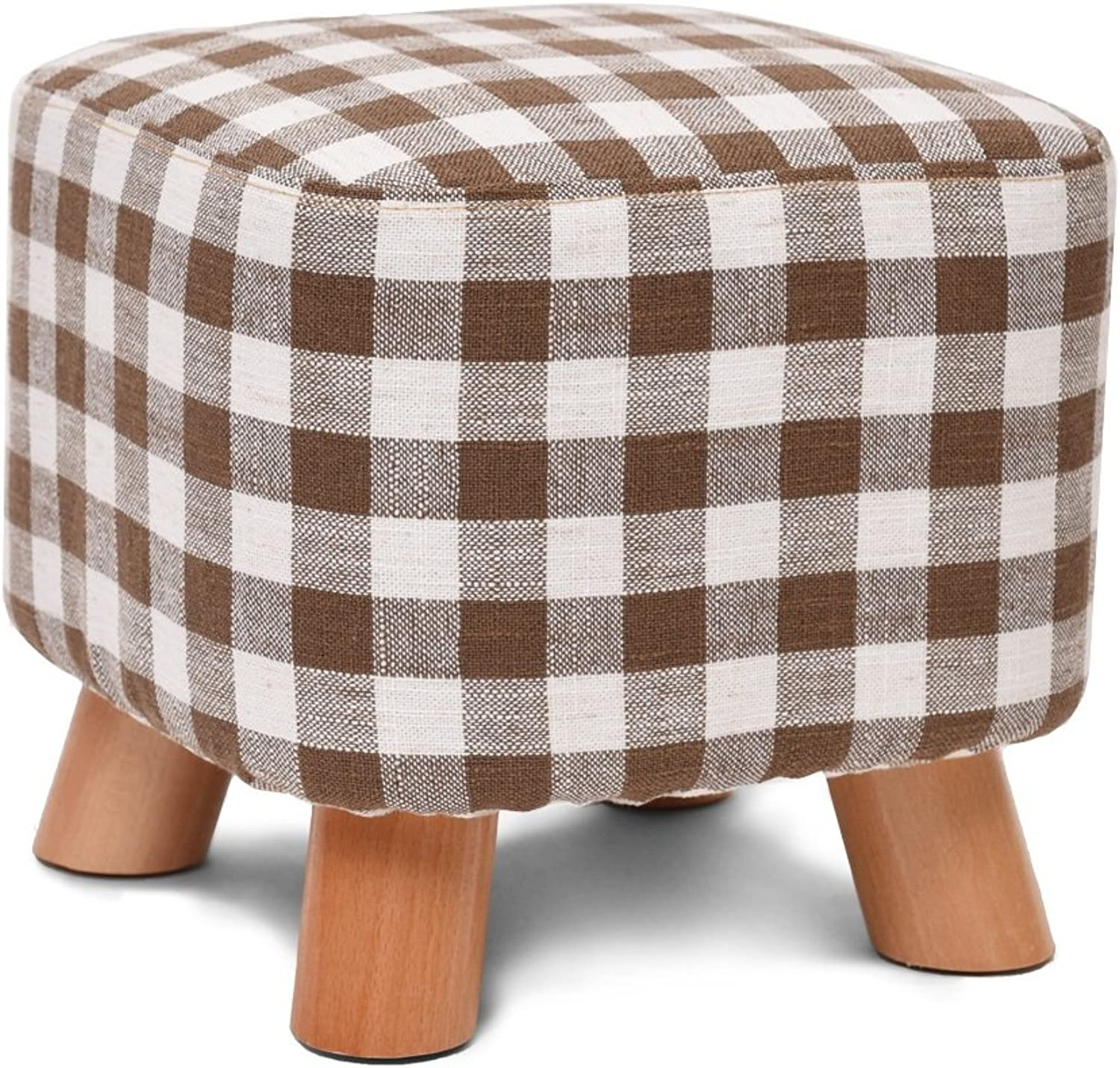 Solid wood shoes bench   bedroom stool   geometric fabric stool   creative square stool   fabric stool   sofa stool   coffee table bench   home stool   Leisure Stool   (2825cm) -by TIANTA