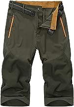 EKLENTSON Mens Outdoor Stretch Waist Thin Quick Drying Shorts Lightweight Slim Fit Cargo Shorts (No Belt)