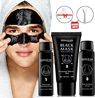 Blackhead remover Charcoal Peel Off Black Mask with Free Brush & 20 PCS Cotton Pad for White/Blackhead Pore Cleansing Set