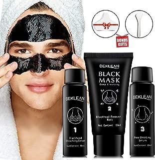 Blackhead remover Charcoal Peel Off Black Mask with Free Brush & 20 PCS Cotton Pad for White/Blackhead Pore Cleansing Set