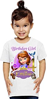 Sofia the First Shirt, Sofia the First Princess Birthday Party, Add Any Name and Age, Family Matching Shirts, Girls Birthd...