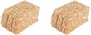Straw Bale for Indoor or Outdoor Home Decor, 13 in, Set of 2