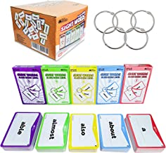 Sight Words Flash Cards 520 Word Set – Educational Abc Alphabet Letter Flashcards Homeschool Kindergarten Learning – Read ...