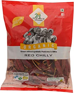 24 Mantra Organic Red Chilly Whole, 100g