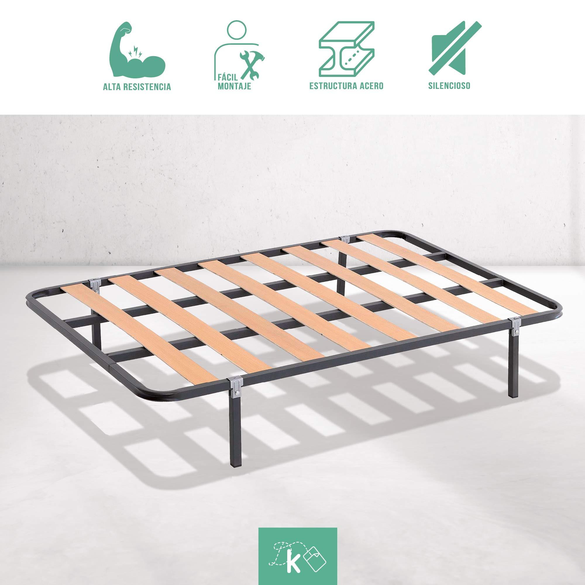 Dreaming Kamahaus SOMIER de lámina Ancha Estructura de 30x30 | 150 x 200 cms.| Láminas de Chopo | Compatible con Patas cuadradas con Abrazadera (No Incluidas) | Fabricado en España |: Amazon.es: Hogar