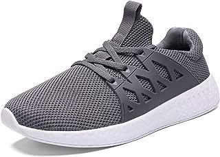 Men Lightweight Breathable Knit Mesh Running Shoes Walking Sneaker