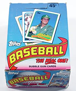 1989 topps baseball cards unopened box