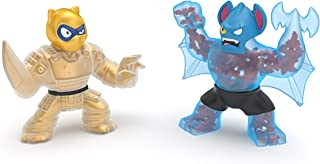 Heroes of Goo Jit Zu Water Blast Versus Pack - 2 Action Figure Pack Including Exclusive Golden Figure, Pantaro Vs Battaxe, Multicolor