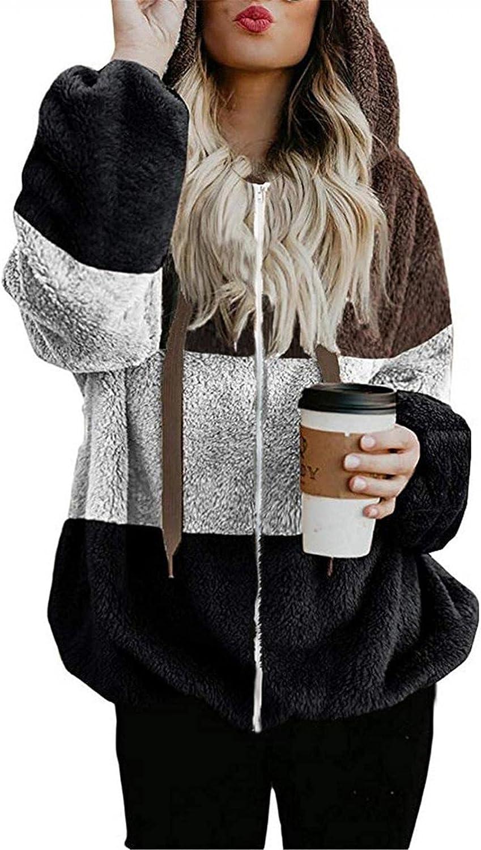 UOCUFY Hoodies for Women,Women's Tie Dye Oversized Pullover Fuzzy Hoodies Sweatshirts Hooded Zipper Outwear with Pocket