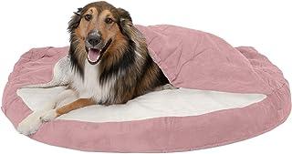 Furhaven Pet Dog Bed | Cooling Gel Memory Foam Orthopedic Round Cuddle Nest Faux Sheepskin Snuggery Blanket Pet Bed w/Remo...