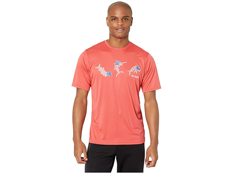 d01aa6b9768 Columbia Terminal Tackle PFG Tri-Fishtm Tee (Sunset Red/Tri-Fish) Men's T  Shirt
