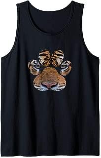 Tiger Paw Face African Safari Big 5 Tank Top