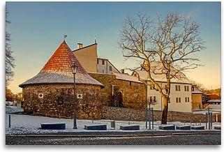 Premium textilduk 120 cm x 80 cm tvär, ett motiv från kalendern potthals i Saale-Orla-cirkeln | väggbild, bild på kil ram,...
