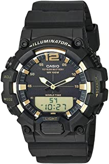 Casio Men's Quartz Watch, Analog-Digital Display and Resin Strap Hdc-700-9Avdf, Black Band