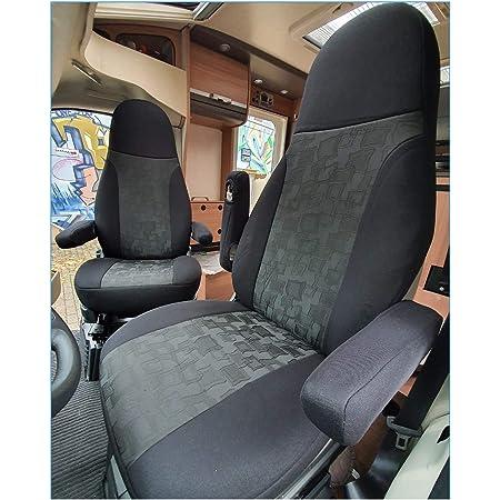 Bremer SitzbezÜge Maß Sitzbezüge Kompatibel Mit Wohnmobil Fahrer Beifahrer Farbnummer 821 Schwarz Auto